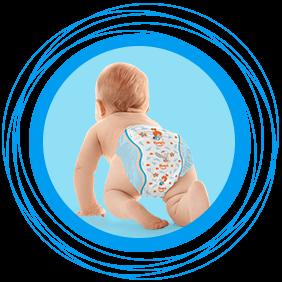 Comodidad para tu bebé en cada etapa Su corte anatómico se ajusta perfectamente a su cuerpito. - Pompis